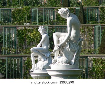 Statues in garden, Potsdam, Germany.