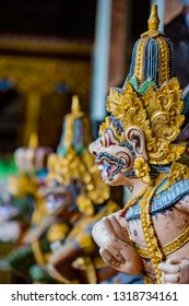 Statues at the Gunung Kawi Sebatu Temple, Ubud, Bali, Indonesia. The temple complex is located  approximately 12km northeast from the main Ubud hub.