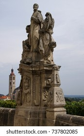 Statues of Jesuit saints at the Jesuit College,  Kutna Hora, Czech Republic