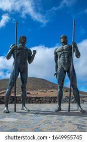Statues at the mirador view point in fuerteventura, spain. taken 02/12/2020