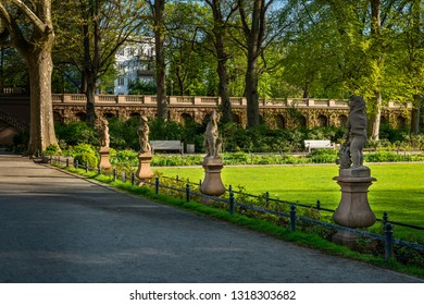 "Statues at the neo-baroque ""Körnerpark"" in Berlin-Neukölln (public park from the 1910s, no property release required)"