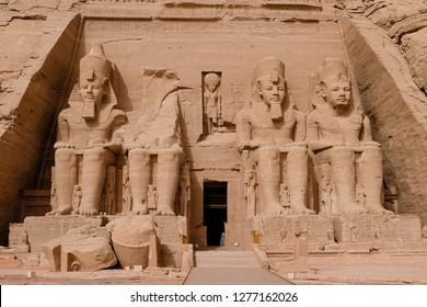 Statues of Ramesses II at Abu Simbel