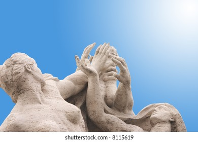 Statues reaching for the sky