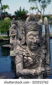 Statues at Tirta Gangga, Bali