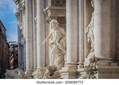 Statues of Trevi Fountain, Rome, Italy