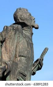 Statues of Tycho Brahe a Johannes Kepler in Prague