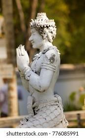 Statues at Wat Phadarabhirom Buddhist Temple in Chiang Mai Thailand.