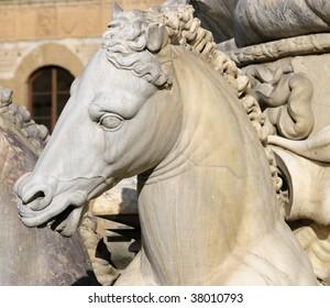 Staute of horses