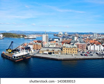 Stavanger, Norway - April 12, 2019: A landscape view of the city of Stavanger, Norway.