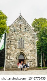 STAVANGER, NORWAY - JULE 18, 2019: Stavanger cathedral, Stavanger, Norway, Scandinavia, Europe