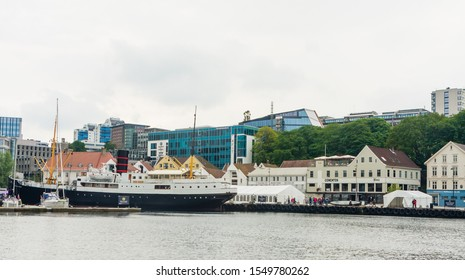STAVANGER, NORWAY - JULE 18, 2019: Europe, Norway,Rogaland county, Stavanger harbour. Stavanger is Norway's third largest city and the centre of the country's oil industry.