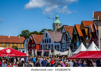 "Stavanger, Norway - July 23. 2015 - Food festival in Stavanger. This festival is called ""Gladmat"", and is arranged every summer. Gladmat is Norway's biggest food festival."