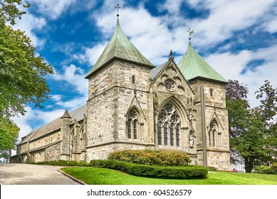 Stavanger, Norway - July 26, 2015: Stavanger Cathedral (XIII c.). One of the oldest churches in Norway. County Rogaland region Vestlandet.