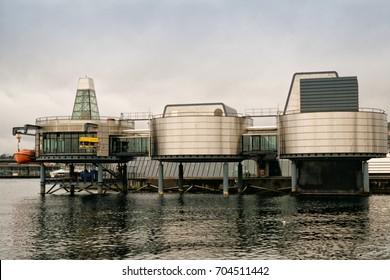 STAVANGER, NORWAY - June, 2017. View of Norwegian petroleum museum