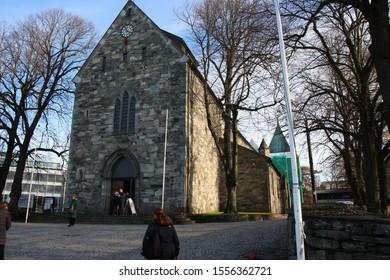 Stavanger, Norway, November 5th 2019: Stavanger Cathedral in Stavanger, Norway