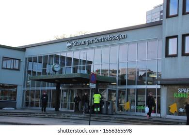 Stavanger, Norway, November 5th 2019: Stavanger Central Station in Stavanger, Norway