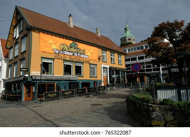Stavanger, Norway – October 16th 2017: The colourful buildings in the back streets of Stavanger