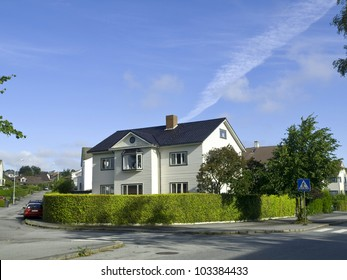 Stavanger Wood Houses, typical architecture or norwegian style