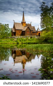 Stave church in Lillehammer Norway