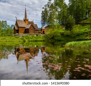 Stave church in Lillehammer Norway