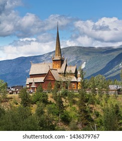 Stave church of Lom in Norway