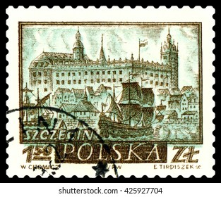 STAVROPOL, RUSSIA - APRIL 28, 2016: a stamp printed by Poland shows  Szczecin, circa 1960