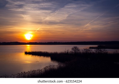 Stawy Milickie/ Milicz fishponds landscape in Barycz River valley, western Poland