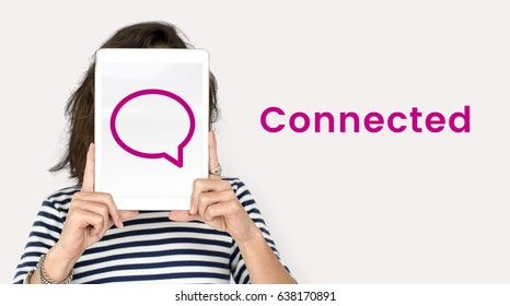 Stay Connected Social Connection Concept