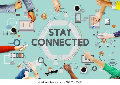 Stay Connected Social Media Technology Innovation Concept