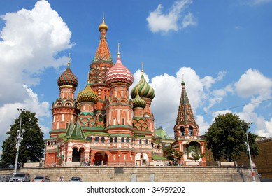 St.Basil's Cathedral in Moscow on Red Square