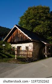 St.Daniel, Carinthia / Austria - September 29th 2018: Old mill in St. Daniel, Carinthia, Austria