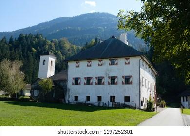 St.Daniel, Carinthia / Austria - September 29th 2018: Weidenburg castle near St. Daniel in Carinthia, Austria