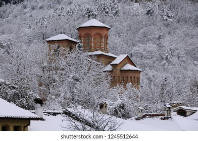 St.Dimitri Church in medieval town of Veliko Tarnovo in Bulgaria in the winter