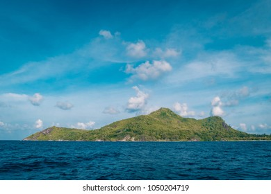 Ste Anne Marine National Park Island Seychelles on a bright summer day vacation