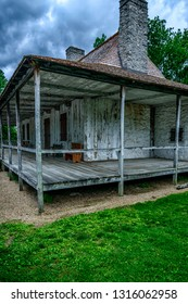 Ste. Geneviève, Missouri, USA, built in 1792 by Jean-Baptiste St. Gemme Beauvais II, It is one of three surviving poteaux-en-terre (post in the ground) buildings in Ste. Genevieve. May 29, 2015