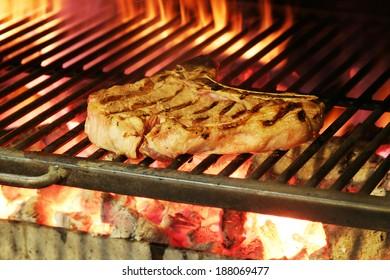 steak in a barbecue