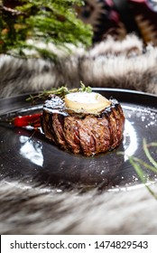 steak with butter and chilli pepper