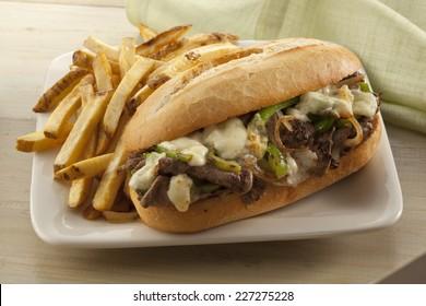 Steak and cheese sandwich