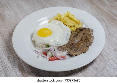 steak with egg