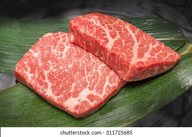 Steak of the high-quality Japanese beef