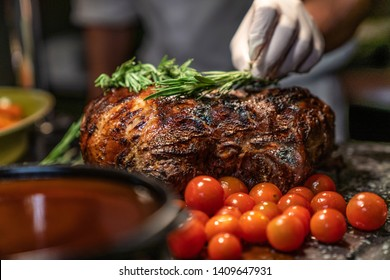 Steak is made from cow meat or antibodies. Steaks are then cooked in a coarse bowl and served on the table. Fried meat