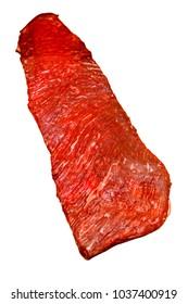 Steak of marbled beef sirloin flap (Bavet)