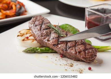 Steak on plate