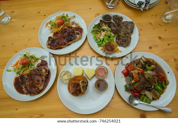 Steak on the table