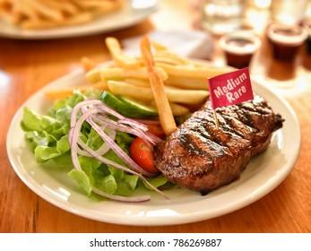 Steak, Rump Steak, Grilled Rump Steak, Sydney, Australia.