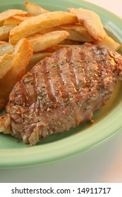 Steak Argentine���´s style, with roasted potatoes