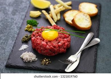 steak tartare, tartar steak, beef tartare