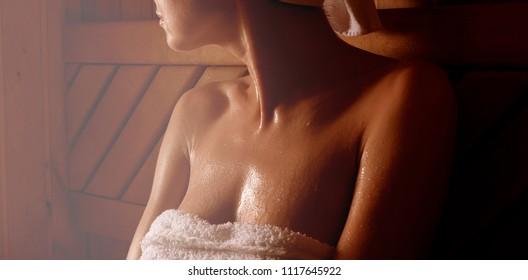 steam bath in the sauna in the sauna