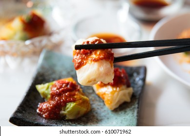 Steam Cabbage Shrimp Dumpling