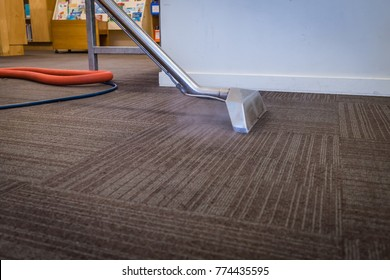 Steam Carpet Cleaning at a School - Professional Hot Water Carpet Cleaning